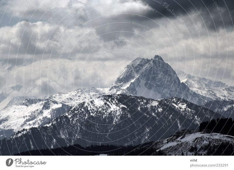 Sky Nature White Vacation & Travel Winter Clouds Black Environment Landscape Cold Snow Mountain Gray Weather Tourism Alps