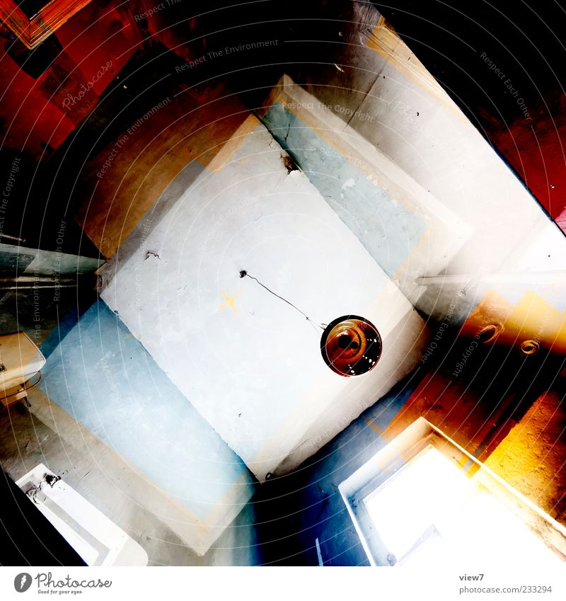 Old Colour Yellow Window Wall (building) Wall (barrier) Lamp Line Brown Interior design Facade Concrete Design Exceptional Authentic Stripe