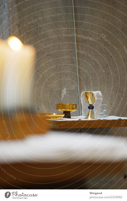 divine service Wine Crockery Plate Bowl Contentment Culture Discover Old Elegant Gold Catholicism Protestant Candle Church service wafer Goblet Prayer Bread