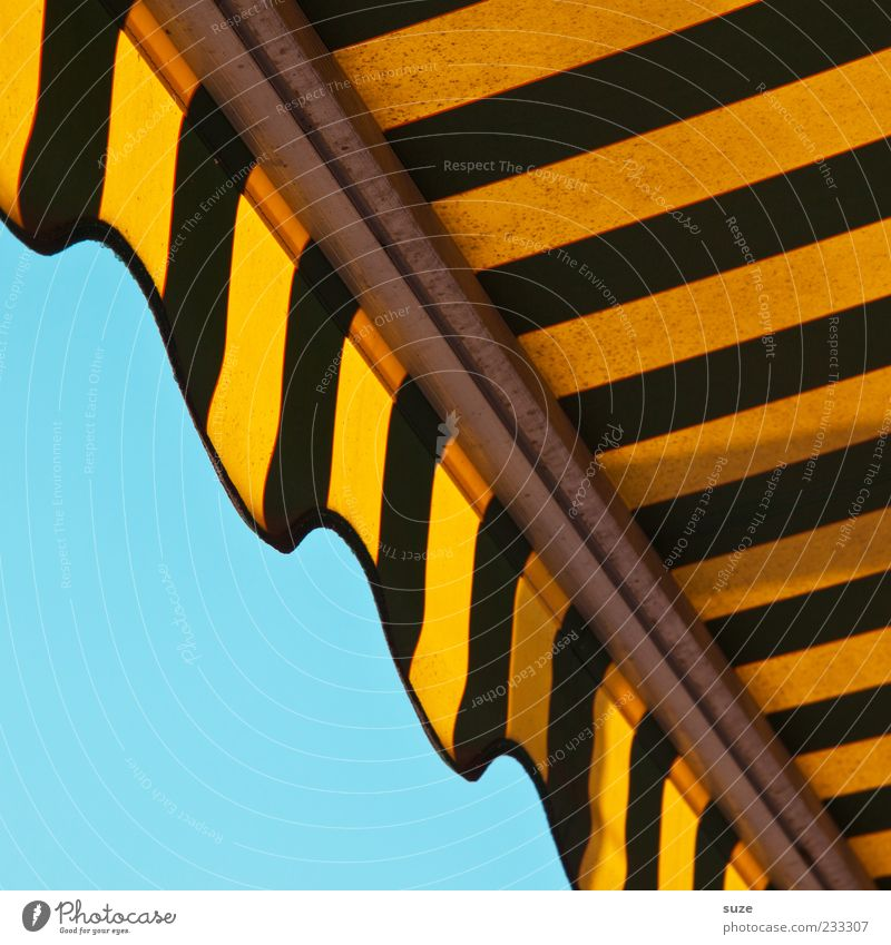 Sky Blue Summer Yellow Environment Line Design Illuminate Lifestyle Stripe Cloth Illustration Friendliness Cloudless sky Graphic Striped