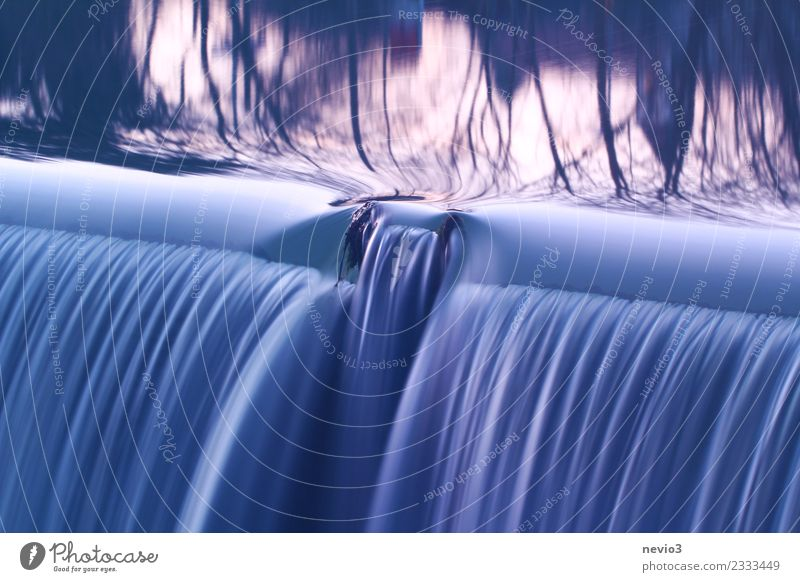 waterfall Environment Nature Elements Water Brook River Waterfall Fluid Wet Natural Beautiful Soft Blue Emotions Serene Patient Retaining wall Flow Weir Current