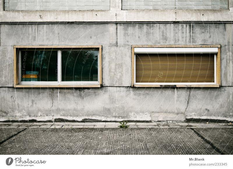 Old Window Gray Dirty Facade Closed Concrete Broken Gloomy Derelict Decline Past Uninhabited Storage Forget Vacancy