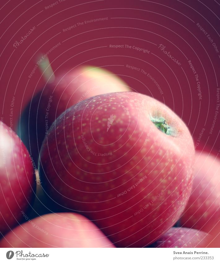 Red Nutrition Food Fruit Lie Multiple Round Apple Vitamin Biological Vitamin-rich
