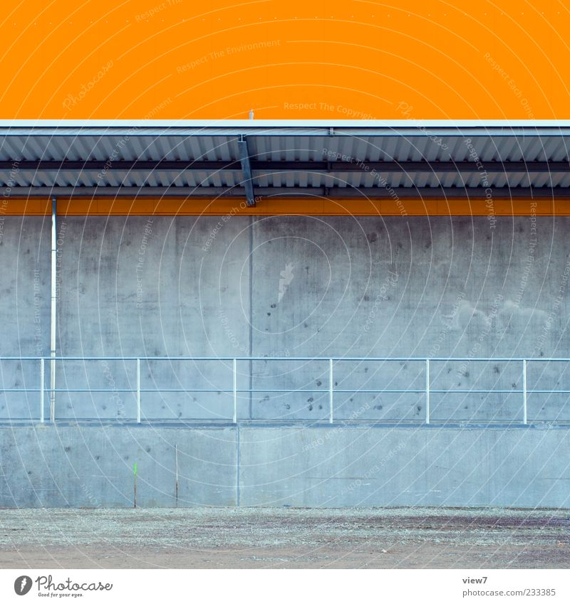 House (Residential Structure) Wall (building) Architecture Stone Wall (barrier) Building Line Orange Facade Concrete Arrangement Design Modern Esthetic