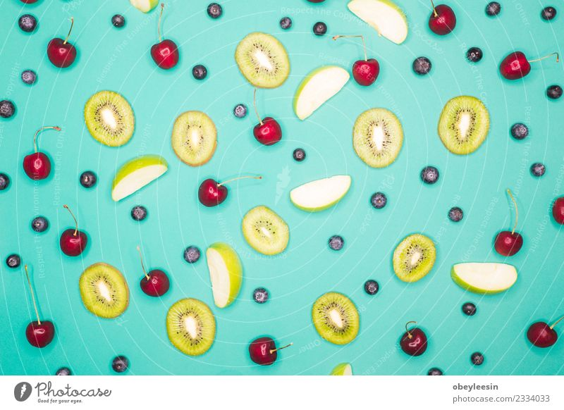 top view of fruit on blue back ground Lifestyle Style Food Fruit Adventure Shopping Slow food
