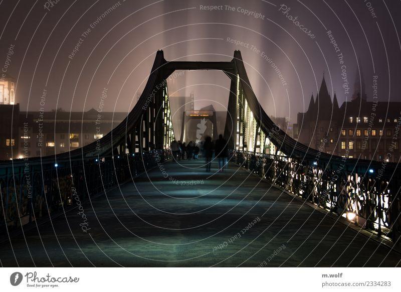 Iron footbridge Frankfurt Hesse Germany Europe Town Downtown Bridge Architecture Tourist Attraction Landmark Eiserner Steg Pedestrian Esthetic Exceptional