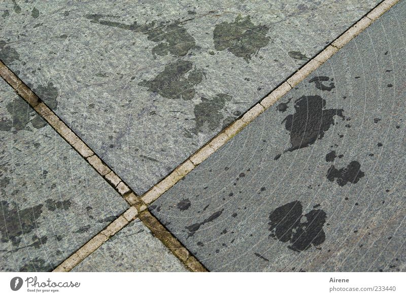 Water Joy Black Gray Stone Funny Wet Natural Concrete Drops of water Happiness Tracks Sign Crucifix Positive Silver