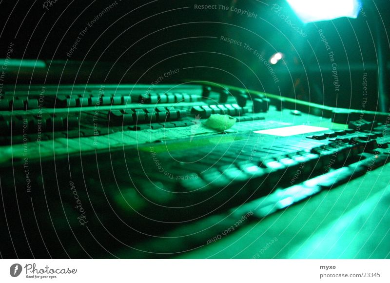 lighting desk Mixing desk Green Lighting Controller Electrical equipment Technology Blur