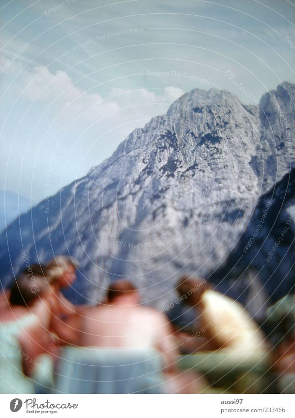 Human being Vacation & Travel Mountain Group Together Break Picnic Blur Wall of rock