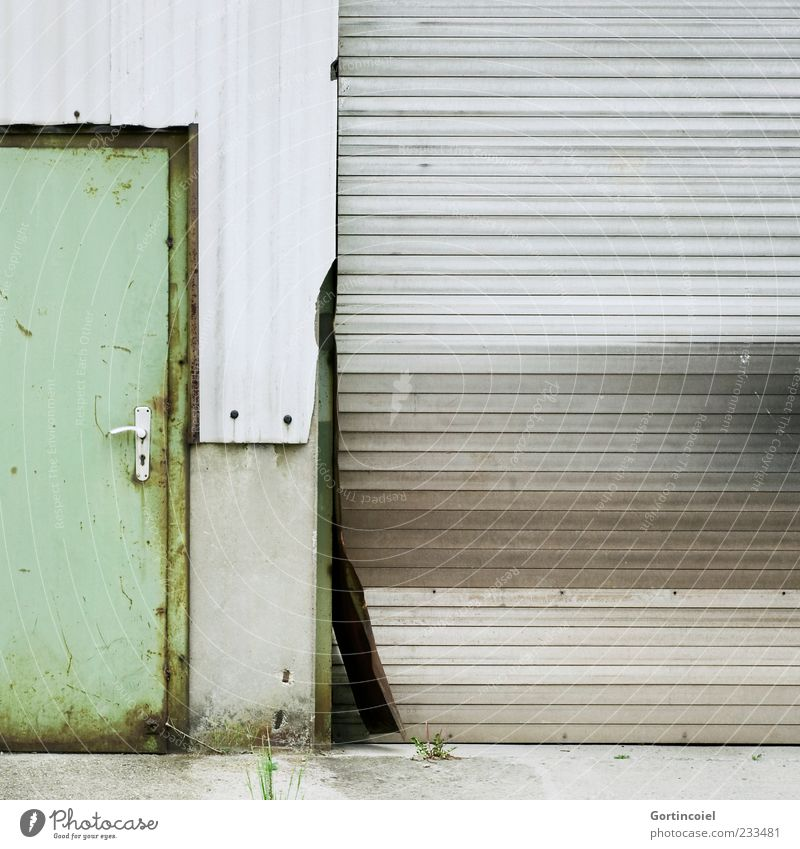 Old Wall (building) Wall (barrier) Building Door Closed Broken Change Gloomy Factory Manmade structures Decline Shabby Warehouse Door handle Industrial plant
