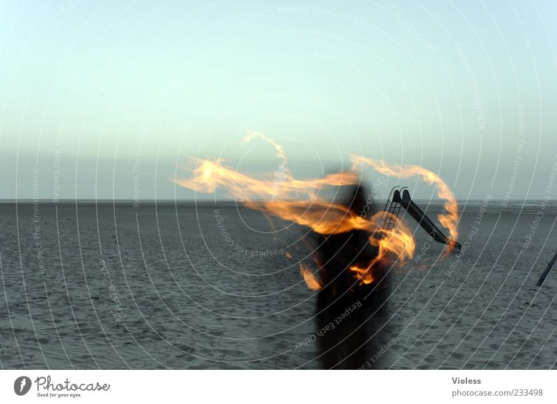 Beach Far-off places Sand Leisure and hobbies Fire Elements Hot Burn Flame Slide Hazy Torch