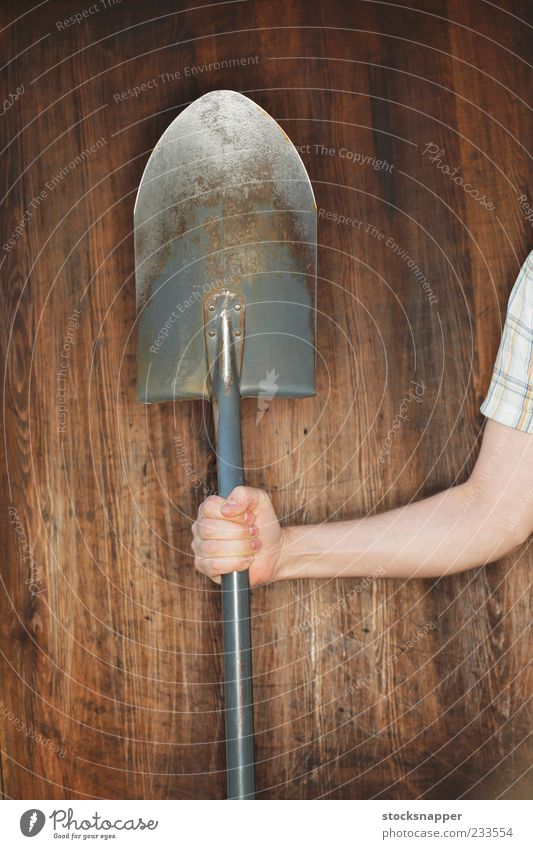 Shovel Hand Old Fingers Tool Grasp Gardening Spade Digging