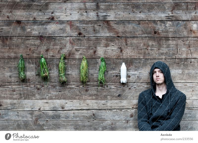 I have no idea what that means... Calm Human being Masculine 1 18 - 30 years Youth (Young adults) Adults Exceptional Hooded (clothing) Grass Gypsum Bottle