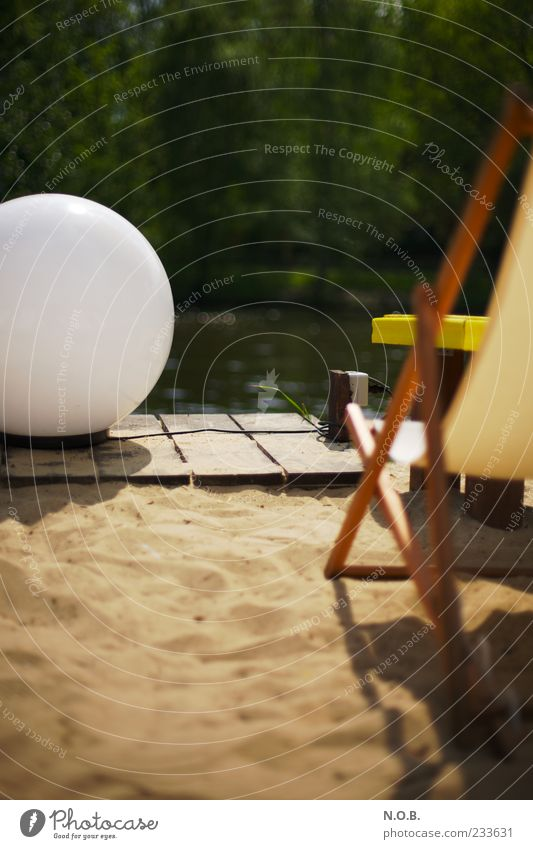 Vacation & Travel Summer Calm Relaxation Sand Lamp Contentment Break Wellness Sphere Joie de vivre (Vitality) Well-being Positive Sunbathing Deckchair Beach bar
