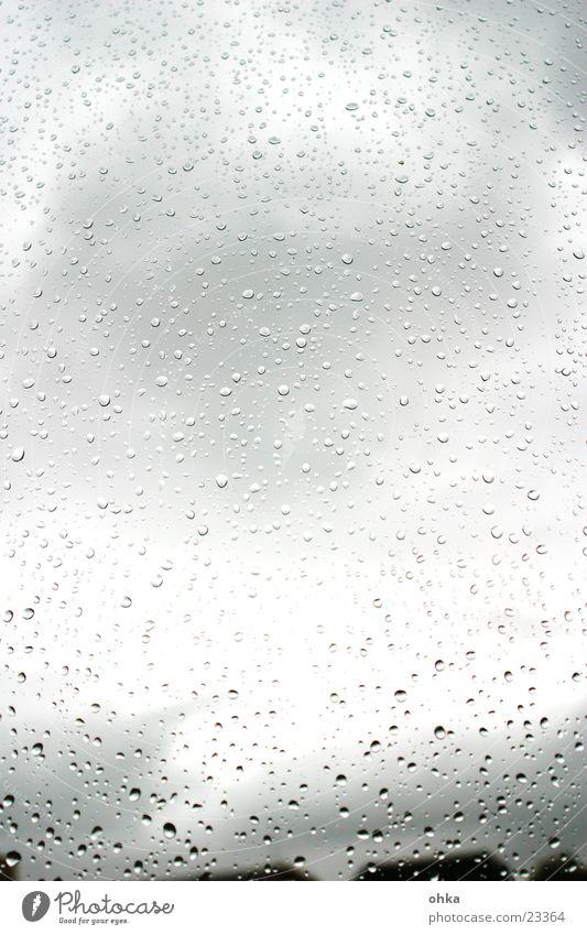 Water Window Autumn Rain Weather Drops of water Wet Window pane