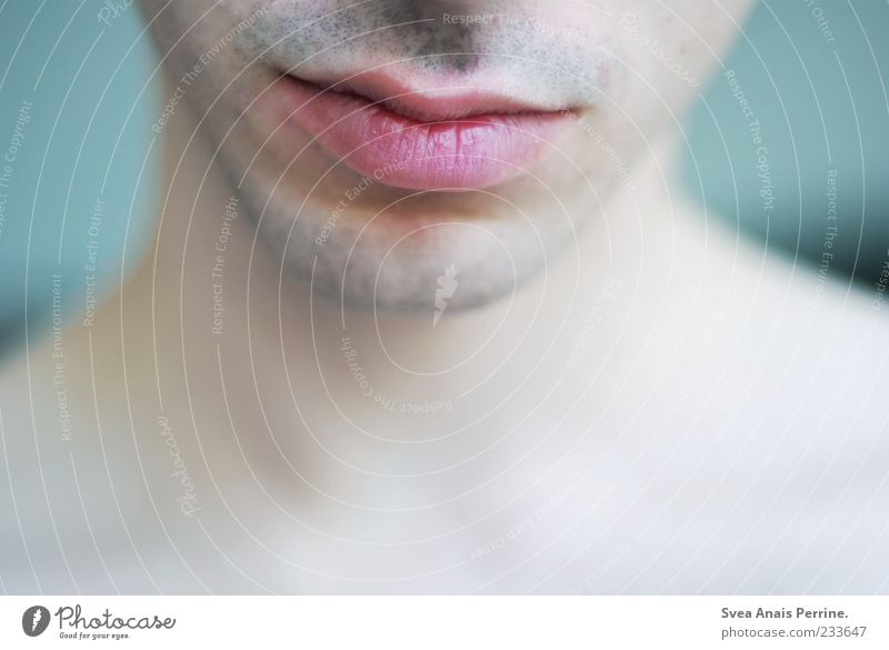 Human being Youth (Young adults) Beautiful Adults Contentment Elegant Mouth Modern 18 - 30 years Uniqueness Soft Lips Neck Modest Stubble Detail of face