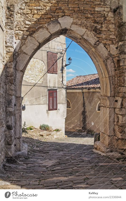 Old town of Motovun motovun Croatia Europe Small Town Deserted House (Residential Structure) Gate Building Architecture Wall (barrier) Wall (building) Facade