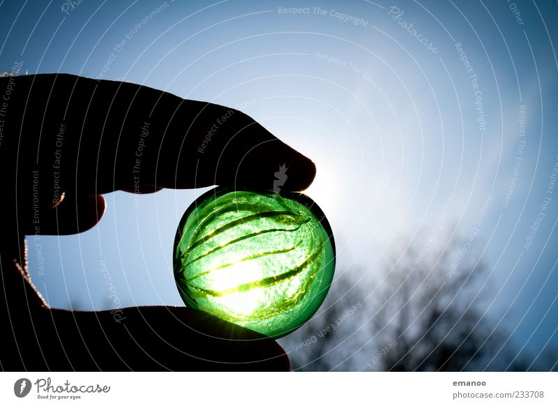marvelous marble handheld Hand Fingers Environment Nature Sky Summer Stone Glass To hold on Dark Round Green Esthetic Marble Sphere Transparent Toys
