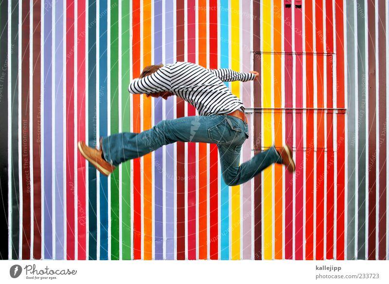 pantone Lifestyle Style Human being Masculine Man Adults 1 Art Culture Jump Stripe Jeans Color chart Colour selection Success Versatile Colour photo