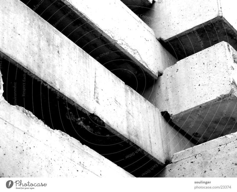 concrete junjle Concrete Zoom effect Construction site Architecture under construction Black & white photo