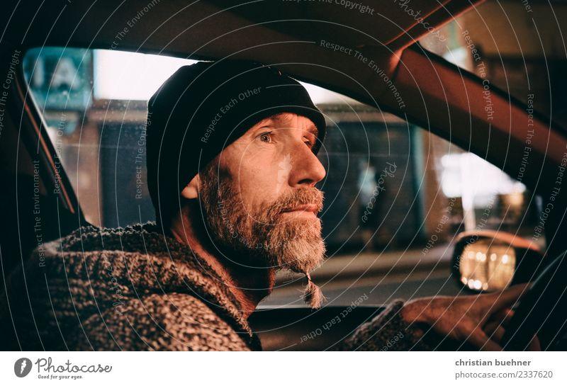 Vacation & Travel Man Loneliness Calm Joy Adults Car 45 - 60 years Adventure Joie de vivre (Vitality) Uniqueness Energy Cool (slang) Logistics Facial hair Cap