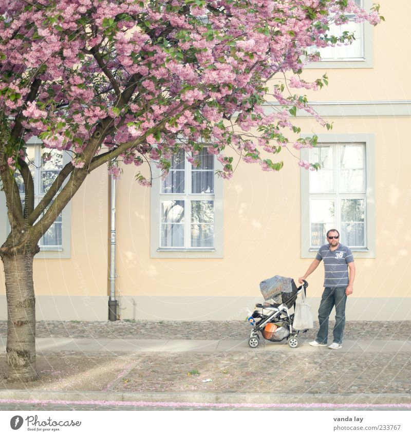 Modern Fathers House (Residential Structure) Human being Masculine Man Adults Parents Family & Relations Life 1 30 - 45 years Tree Blossom Together Happy