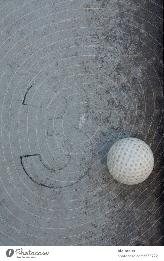 White Black Gray Small Stone Concrete 3 Ball Plastic Sphere Golf Abstract Black & white photo Golf ball Mini golf