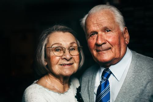 Smiling senior couple Lifestyle Healthy Care of the elderly Harmonious Well-being Contentment Human being Female senior Woman Male senior Man 2
