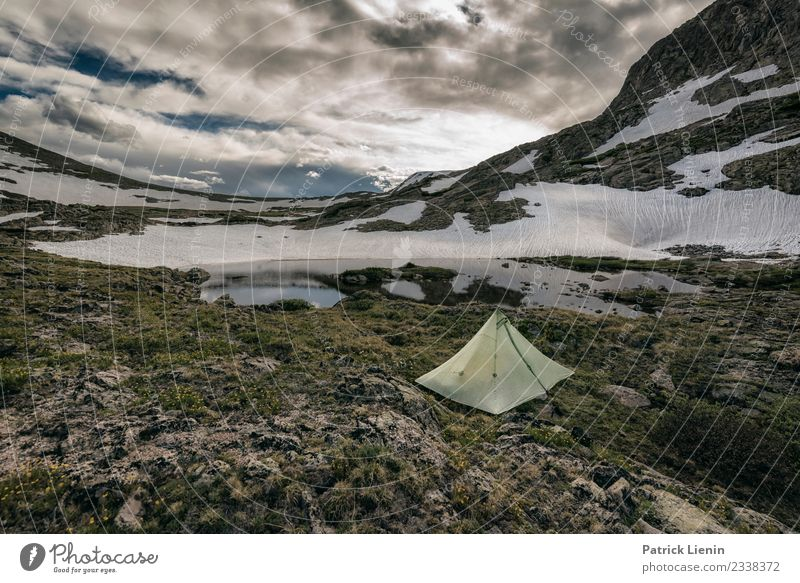 Backcountry camping Lifestyle Contentment Senses Relaxation Calm Meditation Vacation & Travel Tourism Trip Adventure Far-off places Freedom Camping Summer