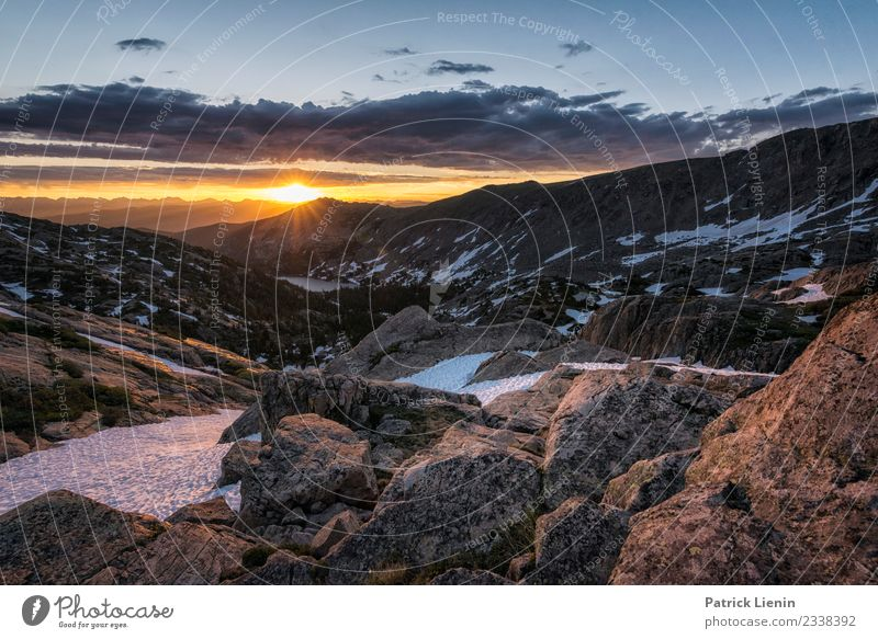 Sunrise over the Rockies Senses Relaxation Calm Vacation & Travel Trip Adventure Far-off places Freedom Summer Mountain Hiking Environment Nature Landscape Sky