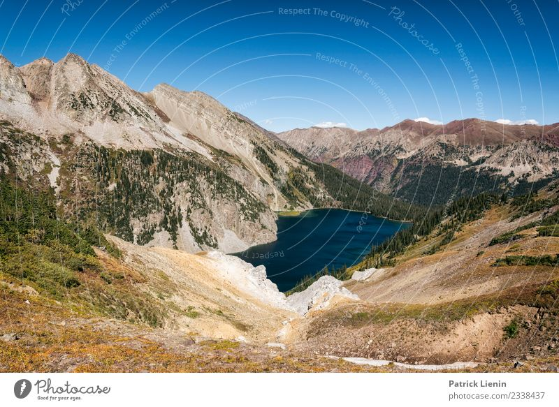 Snowmass Lake Well-being Contentment Senses Relaxation Calm Vacation & Travel Tourism Trip Adventure Far-off places Hiking Environment Nature Landscape Elements