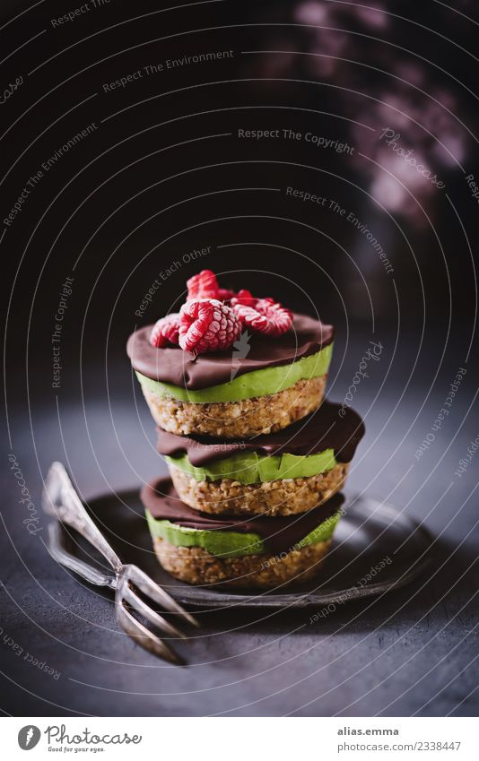 Vegan avocado tartlets Food Cake Chocolate Nutrition Eating Vegetarian diet Healthy Healthy Eating Dark Hip & trendy Delicious Vegan diet Avocado moody Date