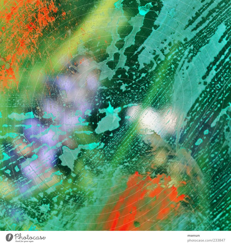 wet II Line Stripe Drop Hip & trendy Modern Green Design Colour Creativity Abstract Colour photo Pattern Structures and shapes Deserted Neutral Background