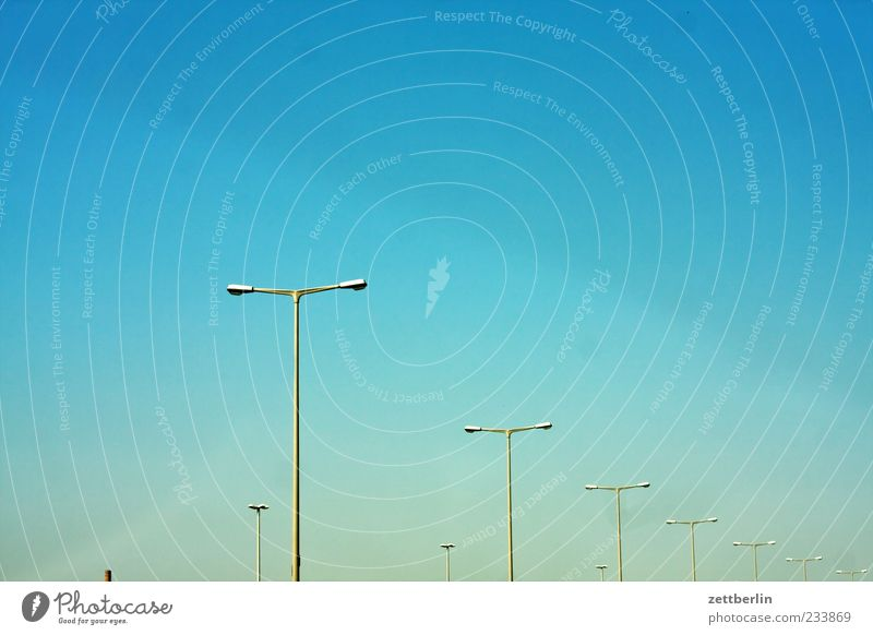Sky Summer Lamp Lighting Weather Dirty Climate Beautiful weather Lantern Traffic infrastructure Street lighting Row Cloudless sky Optimism Windscreen