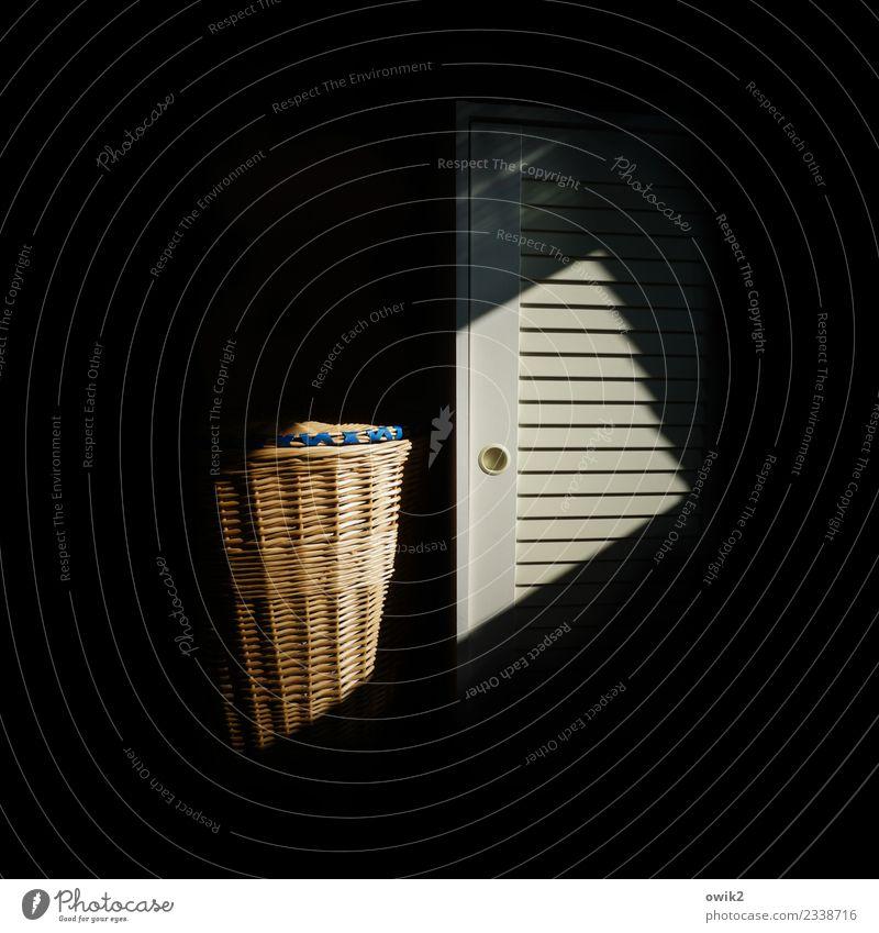 confession Interior design Bedroom Cupboard Cupboard handle Disk Laundry basket Dark Secrecy Together Patient Calm Side by side To talk Dialog partner