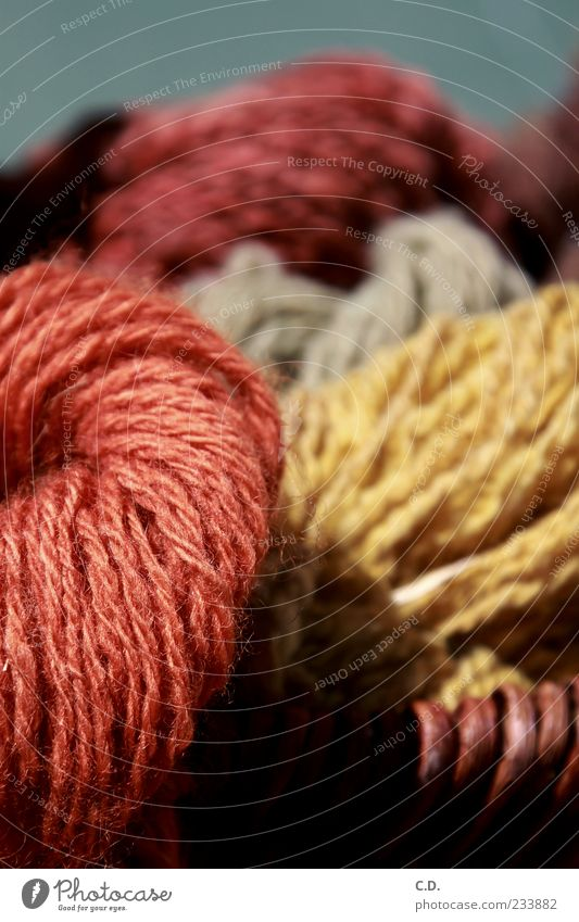 Beautiful Red Yellow Natural Soft Cuddly Basket Wool Knot Wooly Lamb's wool Ball of wool