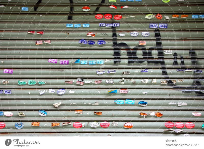 publicity Youth culture Subculture Venetian blinds Label Sign Characters Signs and labeling Graffiti Line Multicoloured Advertising Smiley Colour photo
