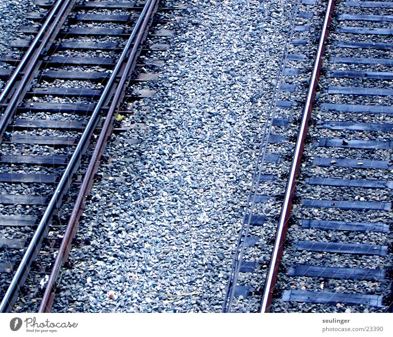 Blue Vacation & Travel Far-off places Transport Railroad Railroad tracks
