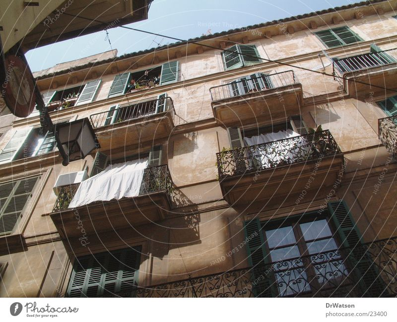 house front House (Residential Structure) Facade Housefront Historic Southern Architecture Old town Majorca