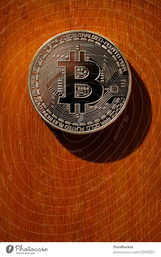 #A# Bitconos Art Work of art Esthetic Cryptocurrency Money Capital investment Coin Value Estimation Colour photo Subdued colour Interior shot Close-up Detail