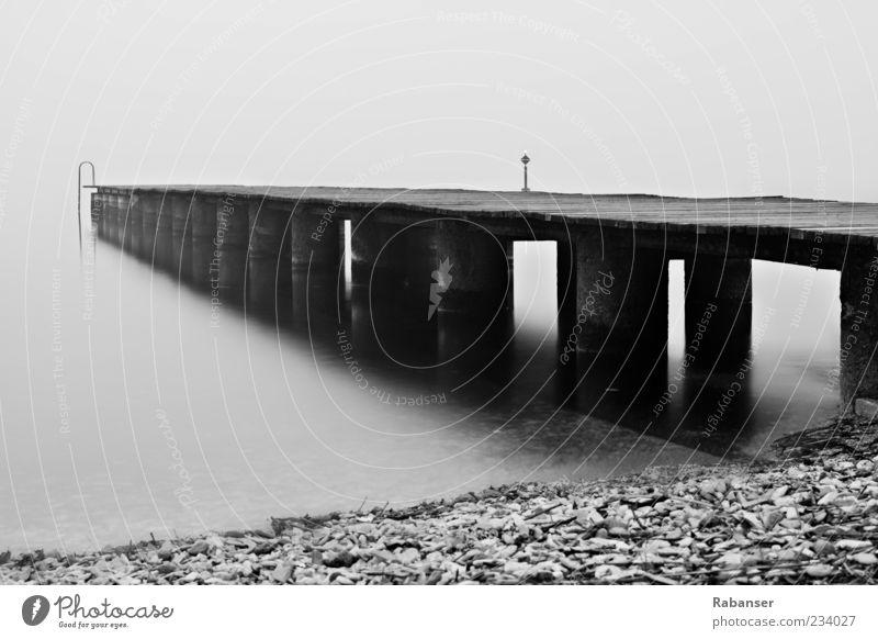 Nature Water Vacation & Travel Summer Beach Environment Dark Emotions Wood Gray Stone Lake Moody Fog Concrete Italy