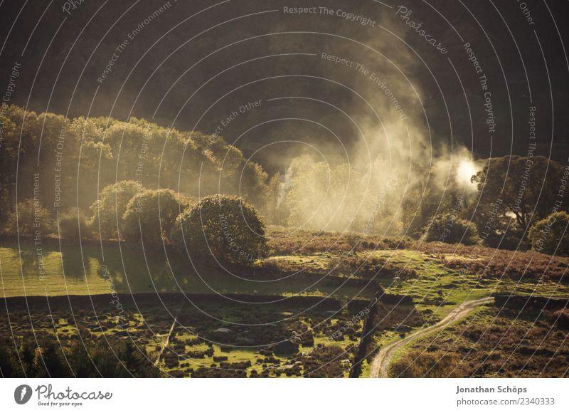 Landscape in Peak District, England Environment Nature Esthetic Joie de vivre (Vitality) Land Feature Smoke Fog Haze Agriculture Nature reserve Great Britain