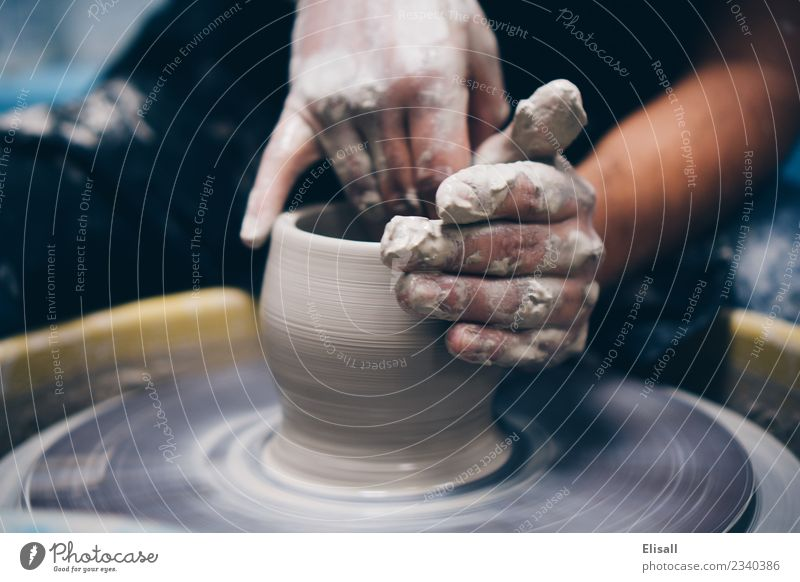 Pottery Leisure and hobbies Hand Art Artist Sculpture Wheel throwing Business Uniqueness Inspiration Clay Clay pot Craftsman Artist's life Workshop