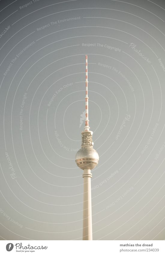 ONE TOWER FOR ALL Sky Cloudless sky Beautiful weather Capital city Skyline Deserted Tower Manmade structures Building Architecture Berlin TV Tower Large Tall