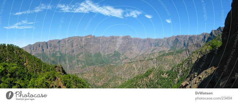 Sky Forest Mountain Rock Canyon Valley La Palma Caldera de Taburiente