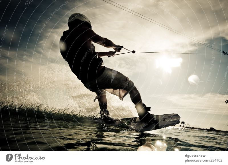 Human being Man Adults Sports Waves Leisure and hobbies Masculine Speed Rope To hold on Athletic Enthusiasm Inject Aquatics Funsport