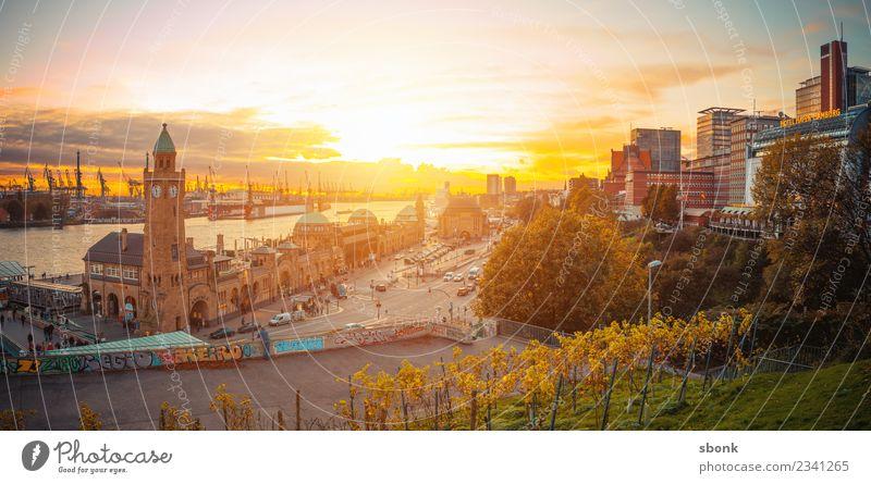 Vacation & Travel Architecture Building Germany Hamburg Skyline Panorama (Format) City