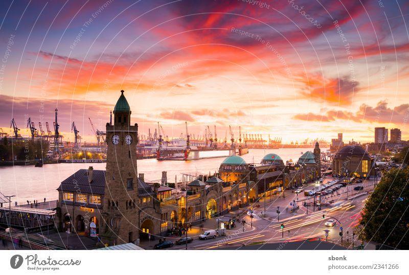 Vacation & Travel Town Germany Hamburg Skyline Harbour City