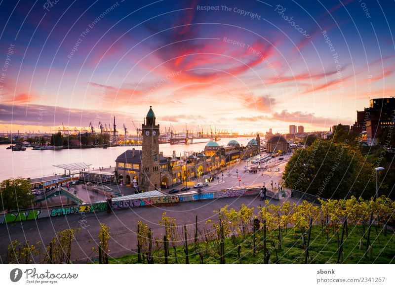 Vacation & Travel Town Architecture Building Germany Hamburg Tourist Attraction Manmade structures Skyline Port City