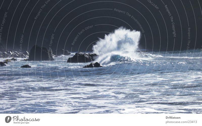 Water Ocean Waves Rock Surf Cliff Reef